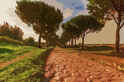 Painting - Rome, Appian Way - 02 by Andrea Mazzocchetti