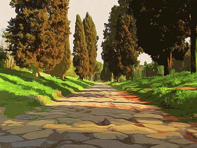 Painting - Rome, Appian Way - 03 by Andrea Mazzocchetti