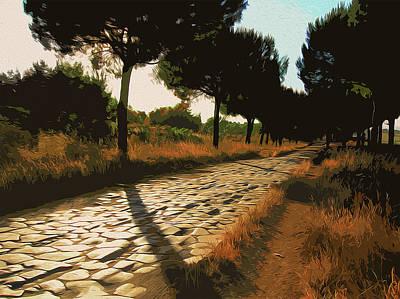 Painting - Rome, Appian Way - 04 by Andrea Mazzocchetti