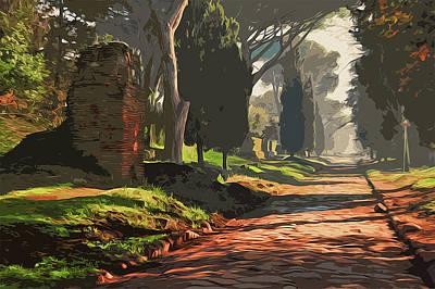 Painting - Rome, Appian Way - 05 by Andrea Mazzocchetti