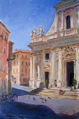 Basilica Painting - Rome Basilica S Giovanni Battista Dei Fiorentini by Ylli Haruni