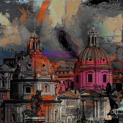 Painting - Rome Bert Dome  by Gull G