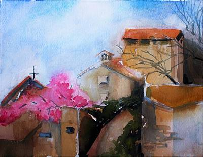 Painting - Rome By Palantine Hill by Mindy Newman