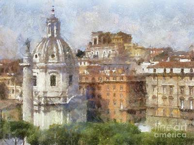 Old World Landscape Painting - Rome By Sarah Kirk by Sarah Kirk