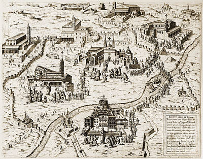 Photograph - Rome: Churches, 1575 by Granger
