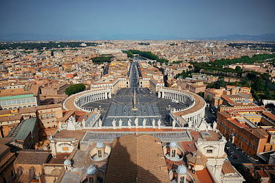 Photograph - Rome City Panoramic View by Songquan Deng