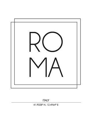 Rome City Print With Coordinates Art Print