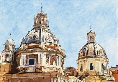 Painting - Rome Cityscape - 02 by Andrea Mazzocchetti