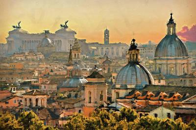 Photograph - Rome Cityscape - 03 by Andrea Mazzocchetti