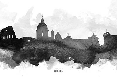 European City Digital Art - Rome Cityscape 11 by Aged Pixel