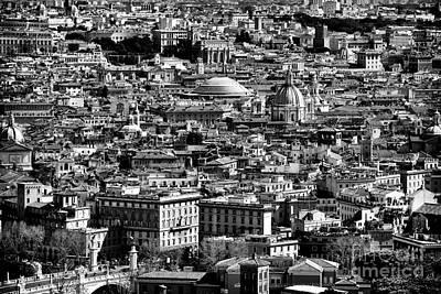 Vatican Photograph - Rome Cityscape 4 by John Rizzuto