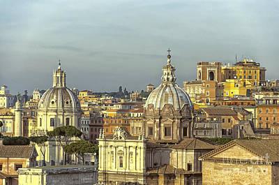 Cityspace Photograph - Rome Cityscape by Antony McAulay
