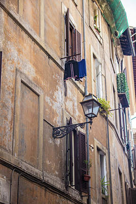 Photograph - Rome Clothes Line And Light  by John McGraw