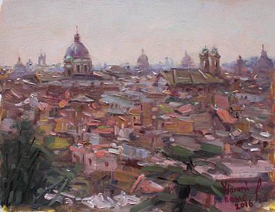 Rome Da Pincio Art Print by Ylli Haruni