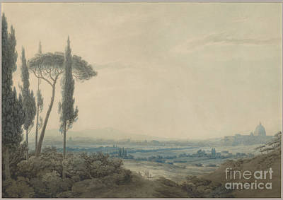 Villa Painting - Rome From The Villa Mellini by MotionAge Designs