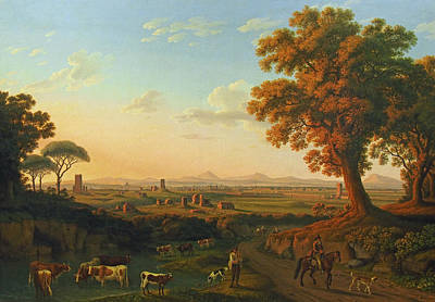 Painting - Rome From Via Appia by Treasury Classics Art