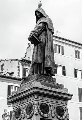 Photograph - Rome - Giordano Bruno  by Andrea Mazzocchetti