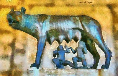 Classical Masterpiece Still Life Paintings - Rome Is Borning 4 - PA by Leonardo Digenio