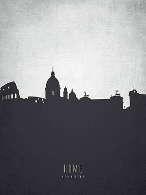 Rome Painting - Rome Italy Cityscape 19 by Aged Pixel