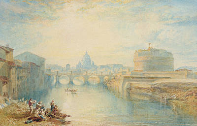 Crowds Painting - Rome by Joseph Mallord William Turner