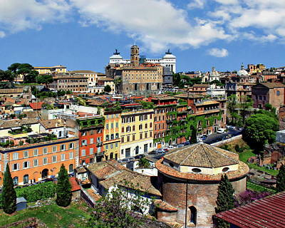 Photograph - Rome Landscape View by Anthony Dezenzio