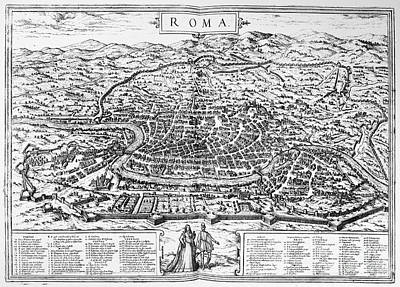 1576 Photograph - Rome: Map, 1576 by Granger