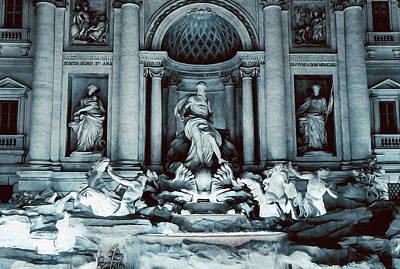 Painting - Rome Nights, Trevi Fountain by Andrea Mazzocchetti