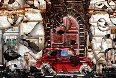 Digital Art - Rome Nostalgia by John Rizzuto