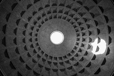 Photograph - Rome Pantheon Dome  by John McGraw