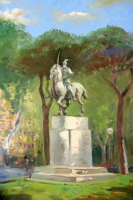 Hero Painting - Rome Piazza Albania by Ylli Haruni