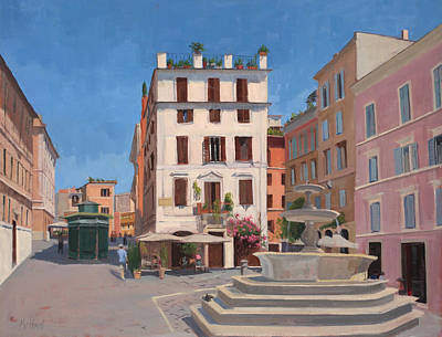 Rome Piazza Original by Kelly Medford