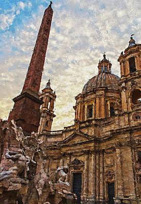 Painting - Rome, Piazza Navona - 02 by Andrea Mazzocchetti