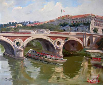 Rome Ponte Matteotti Art Print