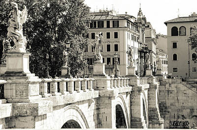 Castel Santangelo Wall Art - Photograph - Rome - Ponte Sant Angelo by Andrea Mazzocchetti