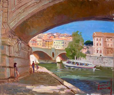 Ponte Painting - Rome Ponte Vittoria Emanuele by Ylli Haruni