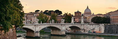 Photograph - Rome River Tiber Panorama by Songquan Deng