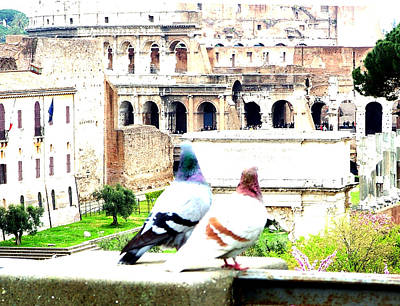 Colliseum Photograph - Rome Romance by Mindy Newman
