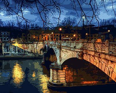 Painting - Rome, Romantic Nights by Andrea Mazzocchetti