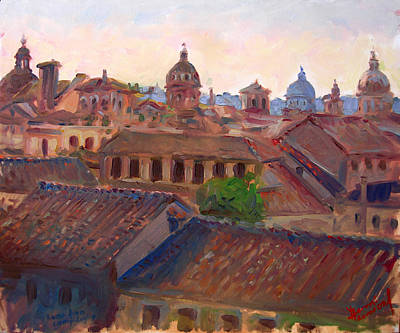 Rome Wall Art - Painting - Rome Seen From Campidoglio by Ylli Haruni