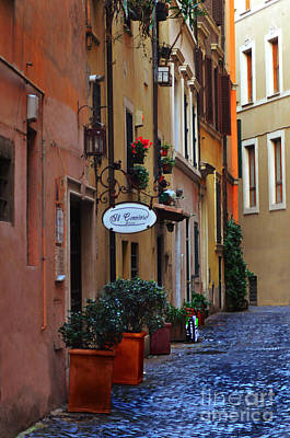 Photograph - Rome Side Street by Eric Liller