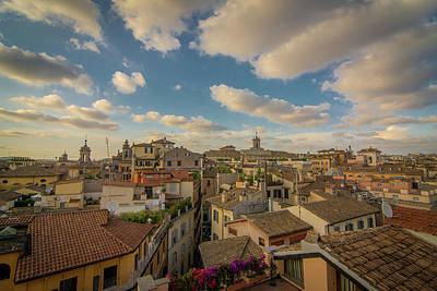Photograph - Rome Skyline by Bill Martin