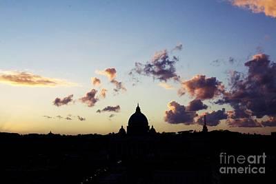 City Sunset Digital Art - Rome Skyline by Edson Conde