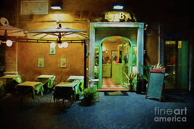Photograph - Rome Snack Bar by Stuart Row