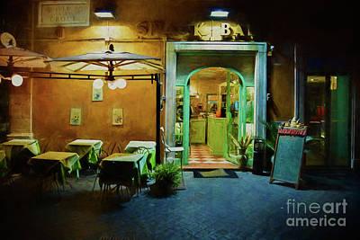 Photograph - Rome Snack Bar by Stuart Row