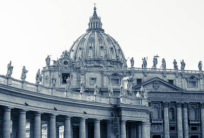 Photograph - Rome - St Peter Basilica Bw by Andrea Mazzocchetti