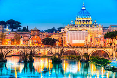 Photograph - Rome - St Peter - Italy by Luciano Mortula