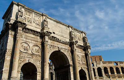 Roman Photograph - Rome - The Arch Of Constantine 2 by Andrea Mazzocchetti