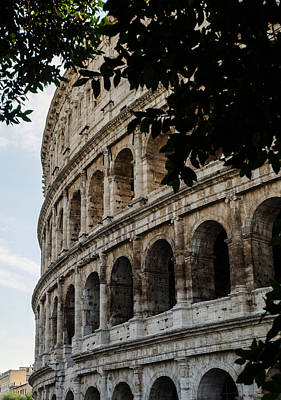 Colliseum Photograph - Rome - The Colosseum - A View 2 by Andrea Mazzocchetti