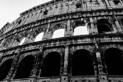 Photograph - Rome - The Colosseum Bw by Andrea Mazzocchetti
