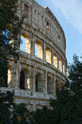 Colliseum Photograph - Rome - The Colosseum - A View 5 by Andrea Mazzocchetti